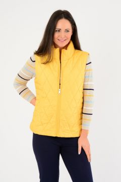 Diamond Padded Gilet With pockets