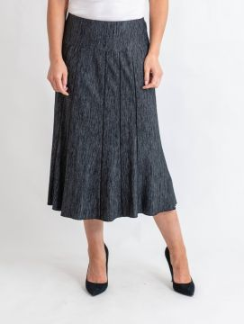 """30"""" fleck fabric panelled skirt elasticated waist with lining"""