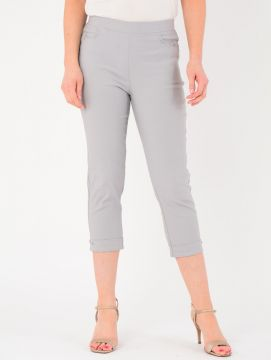 """Silver 22"""" Leg Curved Pocket Trousers"""