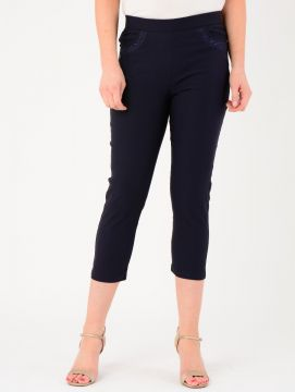 "22"" Leg Pocket Embroidered Trousers"