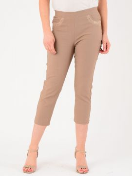 "Taupe 22"" Leg Trousers"
