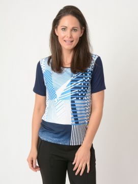 Abstract Print Hotfix Detail Top
