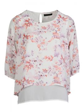 Watercolour Floral Double Layer Top