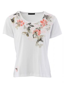 Butterfly Scatter Print T Shirt