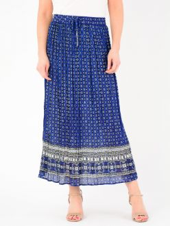 Cobalt Printed Skirt